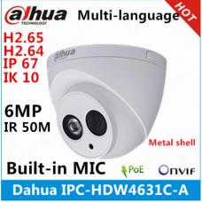Камера Dahua IPC-HDW4631C-A металлический корпус 6MP Встроенный микрофон POE ИК 50 м IP67 IK10 сменная ip-камера IPC-HDW4431C-A CCTV камера
